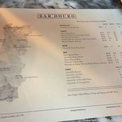 BAR DOURO, WINE LIST 001