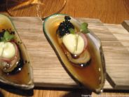 GAIJIN, MUSSEL 'YUZU HONEY' (GREEN SHELL MUSSEL, YUZU HONEY DRESSING, WASABI MAYONNAISE, SEAWEED CAVIAR) 006