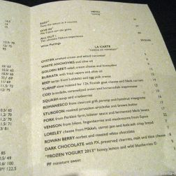 NATURA, MENU AND WINE LIST 002