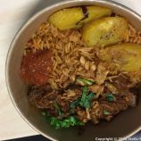 GUILDHALL LUNCH MARKET, DECEMBER 2018, MAMA G JOLLOF WITH GOAT 009