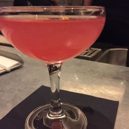 KODBYENS FISKBAR, HAPPY QUINCIDENCE (OPHIR GIN, COPENHAGEN ORANGE GIN, QUINCE, HIBISCUS, CHERRY AND LEMON) 002