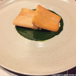 KODBYENS FISKBAR, SEA TROUT, LOVAGE SAUCE, SUMMER CABBAGE 010