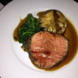 WILLIAM SITWELL'S BURNS NIGHT SUPPER CLUB, ROAST SCOTTISH FILLET OF DRY AGED BUCCLEUGH BEEF, OXTAIL PITHIVIER, WINTER GREENS, CLARET AND SHALLOT SAUCE 013
