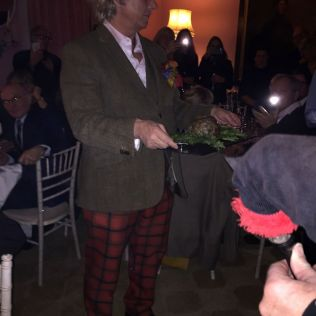 WILLIAM SITWELL'S BURNS NIGHT SUPPER CLUB, THE HAGGIS 005