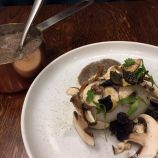 THE WHITE HART, CHESTNUT MUSHROOM ESPUMA WITH DUCK EGG AND TRUFFLE 005