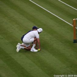 WIMBLEDON NO 1 COURT CELEBRATION, GORAN IVANISEVIC, A WIMBLEDON BALLBOY 107