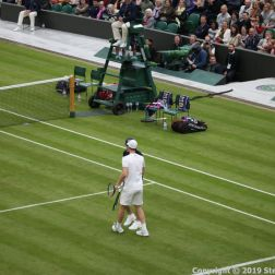 WIMBLEDON NO 1 COURT CELEBRATION, GORAN IVANISEVIC, A WIMBLEDON BALLBOY 108