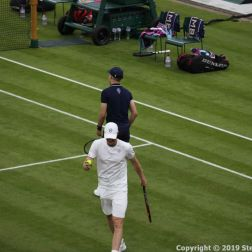 WIMBLEDON NO 1 COURT CELEBRATION, GORAN IVANISEVIC, A WIMBLEDON BALLBOY 109