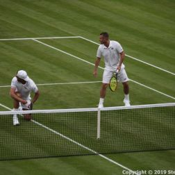WIMBLEDON NO 1 COURT CELEBRATION, GORAN IVANISEVIC, LLEYTON HEWITT 099