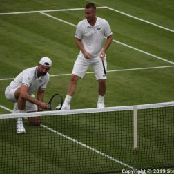 WIMBLEDON NO 1 COURT CELEBRATION, GORAN IVANISEVIC, LLEYTON HEWITT 100