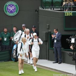 WIMBLEDON NO 1 COURT CELEBRATION, JOHN MCENROE, KIM CLIJSTERS V JAMIE MURRAY, MARTINA NAVRATILOVA 196