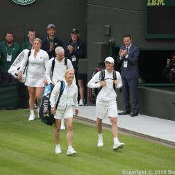 WIMBLEDON NO 1 COURT CELEBRATION, JOHN MCENROE, KIM CLIJSTERS V JAMIE MURRAY, MARTINA NAVRATILOVA 197