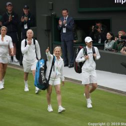 WIMBLEDON NO 1 COURT CELEBRATION, JOHN MCENROE, KIM CLIJSTERS V JAMIE MURRAY, MARTINA NAVRATILOVA 198