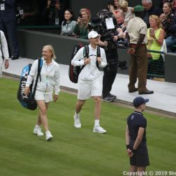 WIMBLEDON NO 1 COURT CELEBRATION, JOHN MCENROE, KIM CLIJSTERS V JAMIE MURRAY, MARTINA NAVRATILOVA 199