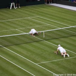 WIMBLEDON NO 1 COURT CELEBRATION, JOHN MCENROE, MARTINA NAVRATILOVA 239