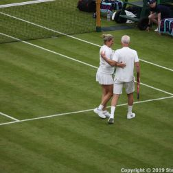 WIMBLEDON NO 1 COURT CELEBRATION, KIM CLIJSTERS, JOHN MCENROE 217