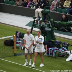 WIMBLEDON NO 1 COURT CELEBRATION, KIM CLIJSTERS, JOHN MCENROE 219