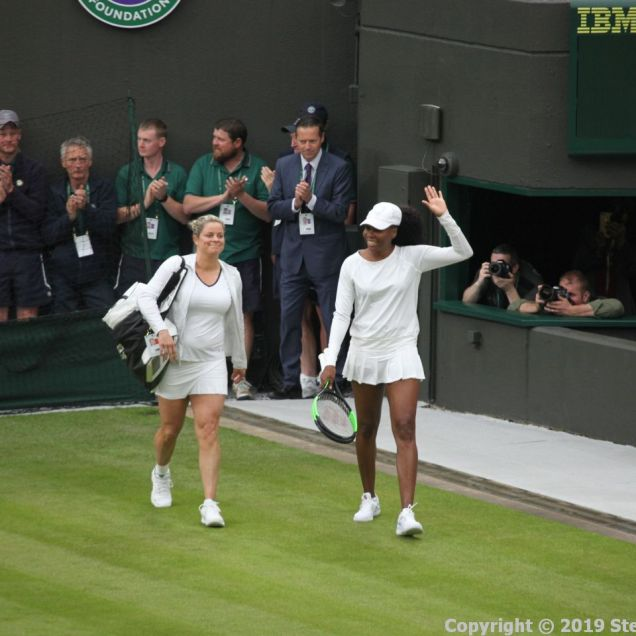 WIMBLEDON NO 1 COURT CELEBRATION, KIM CLIJSTERS, VENUS WILLIAMS 137