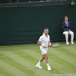 WIMBLEDON NO 1 COURT CELEBRATION, PAT CASH 031