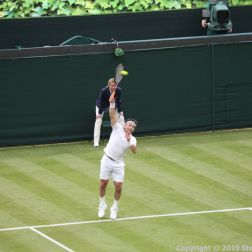 WIMBLEDON NO 1 COURT CELEBRATION, PAT CASH 070