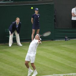 WIMBLEDON NO 1 COURT CELEBRATION, PAT CASH 076