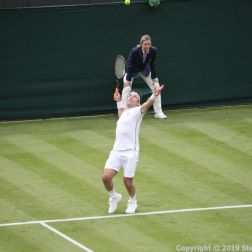 WIMBLEDON NO 1 COURT CELEBRATION, PAT CASH 090