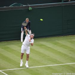 WIMBLEDON NO 1 COURT CELEBRATION, PAT CASH 105
