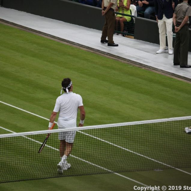WIMBLEDON NO 1 COURT CELEBRATION, PAT CASH 129