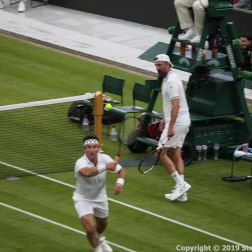 WIMBLEDON NO 1 COURT CELEBRATION, PAT CASH, GORAN IVANISEVIC 120