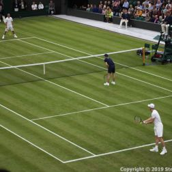 WIMBLEDON NO 1 COURT CELEBRATION, PAT CASH, LLEYTON HEWITT, A WIMBLEDON BALLBOY, JAMIE MURRAY 110