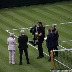 WIMBLEDON NO 1 COURT CELEBRATION, SUE BARKER, JOHN MCENROE 004