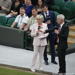 WIMBLEDON NO 1 COURT CELEBRATION, SUE BARKER, JOHN MCENROE 013