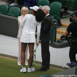 WIMBLEDON NO 1 COURT CELEBRATION, SUE BARKER, VENUS WILLIAMS, JOHN MCENROE 142