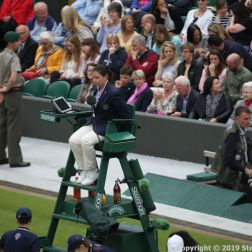 WIMBLEDON NO 1 COURT CELEBRATION, UMPIRE 165