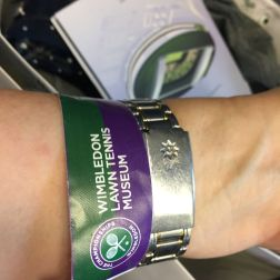 WIMBLEDON NO 1 COURT CELEBRATION, WRISTBAND 285