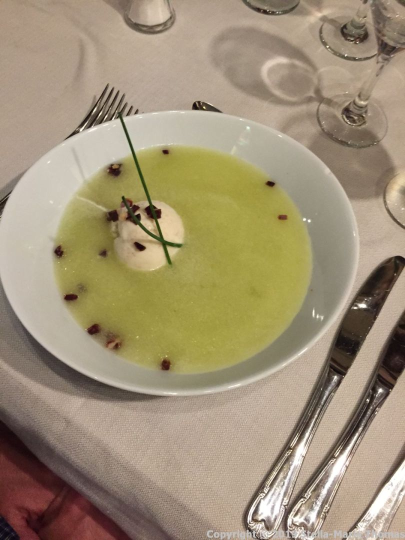 LOS CARACOLES, COLD MELON SOUP WITH IBERIAN HAM ICE CREAM 017