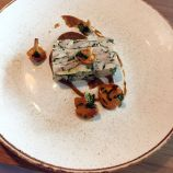 SAUCE SUPPER CLUB, CHICKEN AND SMOKED EEL TERRINE, PICKLED GIROLLES, JALAPENO MISO 008