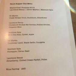 SAUCE SUPPER CLUB, WINE FLIGHT LIST 010