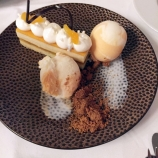 HOTEL KASTEEL BLOEMENDAL. WHITE CHOCOLATE AND APRICOT TART, STRUCTURES OF YOGURT 016