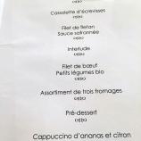 HOTEL LE MARECHAL, COLMAR, MENU 024