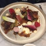 LORNE, ROAST WOOD PIGEON, HERITAGE BEETROOT, CELERIAC PUREE, PEARL BARLEY, BACON 007