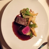 RABEN HORBEN, SADDLE OF VENISON, PARSELY ROOT, WILD CAULIFLOWER, PEAR CHUTNEY, HASELNUT SCHUPFNUDELS 014