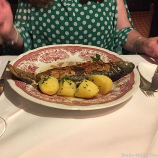 SCHLOSSMUEHLE HOTEL, LOCAL TROUT IN ALMOND BUTTER 006