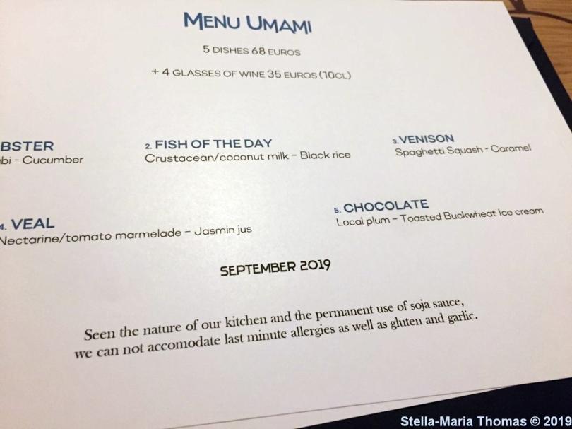 UMAMI, MENU 001
