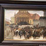 HAMBURG KUNSTHALLE, ADOLPH MENZEL, THE LAYING OUT OF THE FALLEN MARCH REVOLUTIONARIES 104