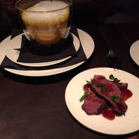 HERITAGE HAMBURG, CREAM OF CRUSTACEAN SOUP, VENISON FILLET 003