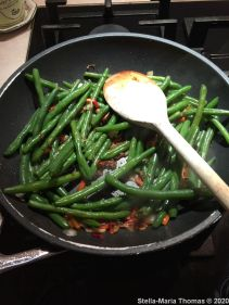 FIRE ISLANDS, STIR FRIED GREENS WITH GARLIC AND CHILLI 009