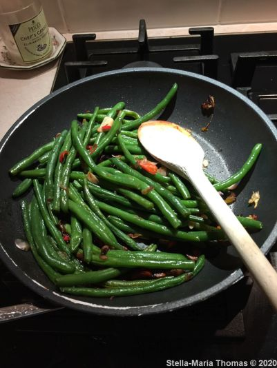 FIRE ISLANDS, STIR FRIED GREENS WITH GARLIC AND CHILLI 010