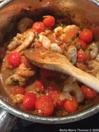 FALASTIN, PRAWN AND TOMATO STEW WITH CORIANDER SAUCE 001