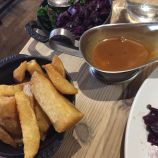 THE WHITE HORSE, JANUARY 2020, CABBAGES, PEPPERCORN SAUCE, CHIPS 009